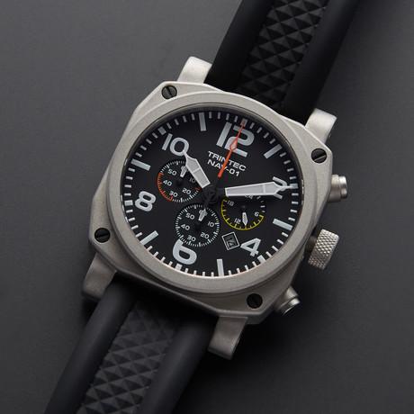 Trintec NAV-01 Pilot Chronograph Quartz // NAV-01-SS