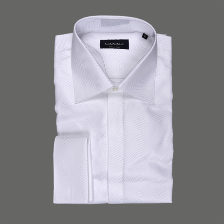 Canali // Formal Dress Shirt //White (Euro: 38)