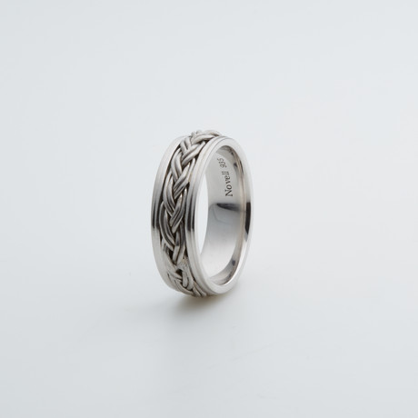 Argentium Sterling Silver Ring // Double Braid (7)