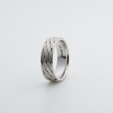 Argentium Sterling Silver Ring // Flat Briad (7)