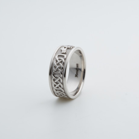 Argentium Sterling Silver Ring // Claddagh (7)