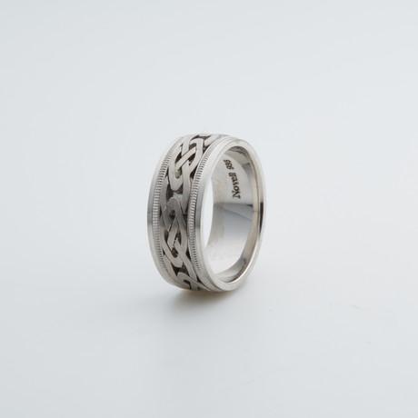Argentium Sterling Silver Ring // Braide + Millgrain (7)