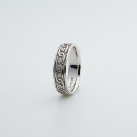 Argentium Sterling Silver Ring // Open Chain (7)