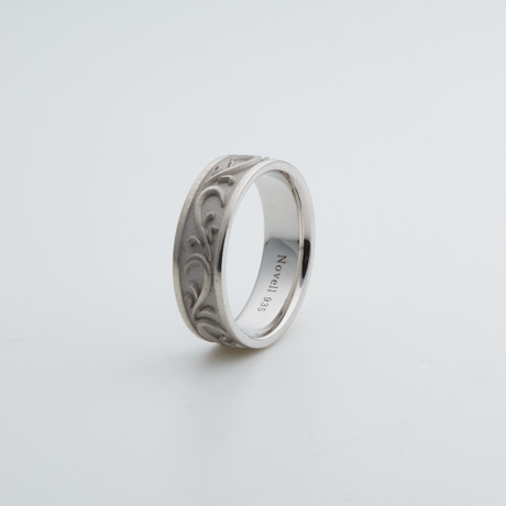 Argentium Sterling Silver Ring // Scroll (7)
