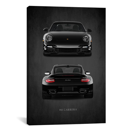 "Porsche 911 Carrera Turbo // Mark Rogan (12""W x 18""H x 0.75""D)"