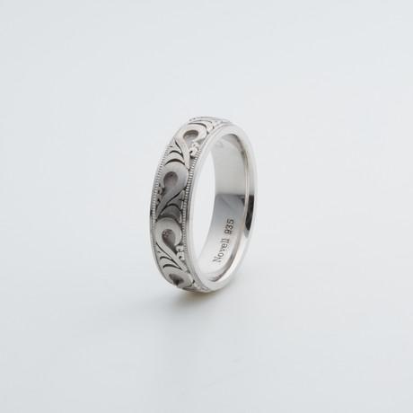 Argentium Sterling Silver Ring // Swirl (7)
