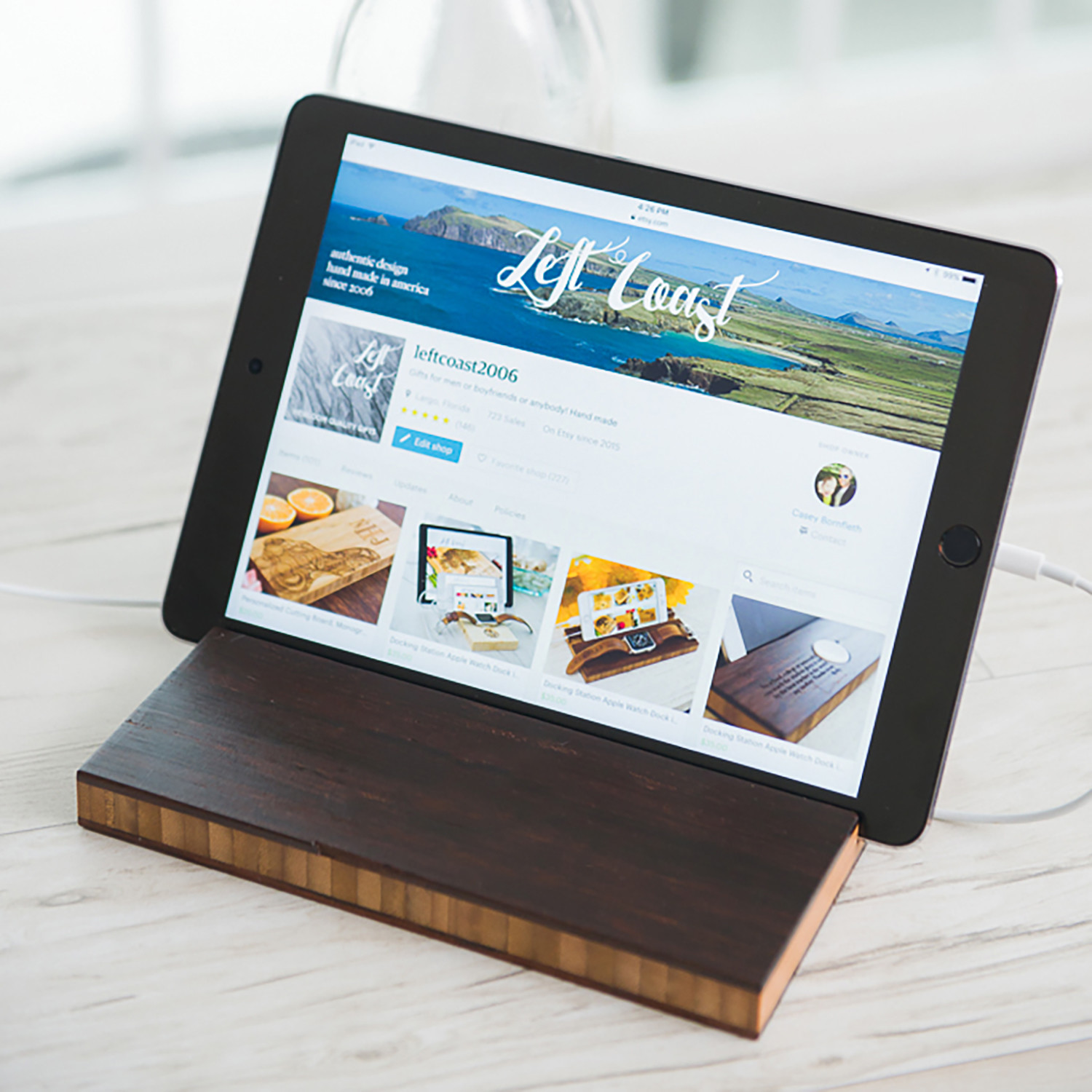 Cool Stand Charging Dock Tablet Ipad Espresso Left Home Interior And Landscaping Palasignezvosmurscom