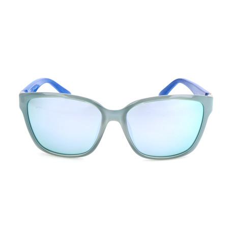 Women's SF716S Sunglasses // Azure + Blue Wood