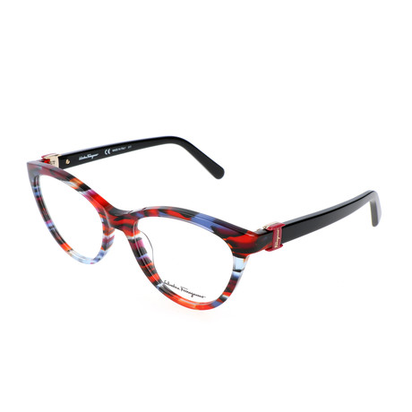 Women's SF2761 Optical Frames // Geometric Blue Red