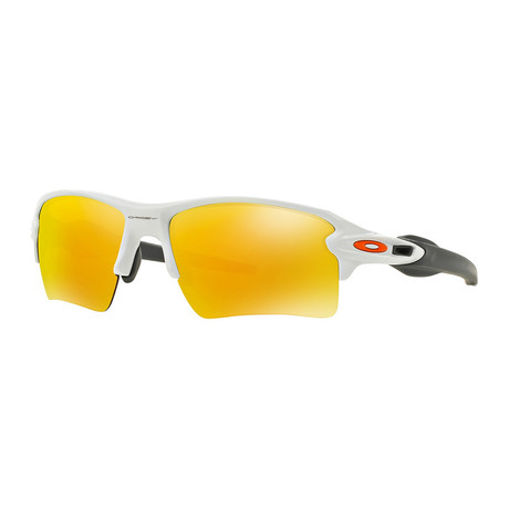Oakley Flak® 2.0 Xl Sunglasses // Polished White Frames + Fire Iridium Lenses