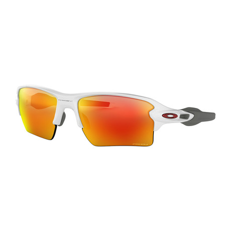 Oakley Flak® 2.0 Xl Team Colors Sunglasses // Polished White Frames + Prizm Ruby Lenses