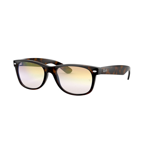 Ray-Ban New Wayfarer Sunglasses // Havana Frames + Clear Gradient Gold Lenses (52mm)