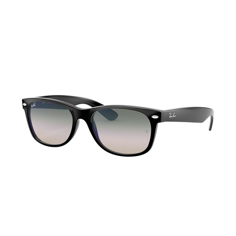 Ray-Ban New Wayfarer Sunglasses // Black Frames + Clear Gradient Green Lenses