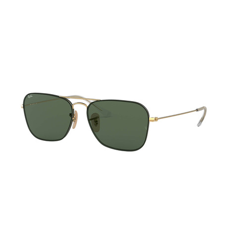 Ray-Ban RB3603 Sunglasses // Gold Frames + Green Lenses