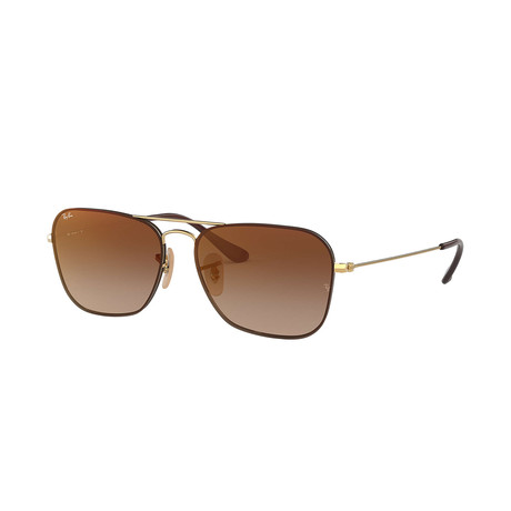 Ray-Ban RB3603 Sunglasses // Gold Frames + Brown Gradient Lenses