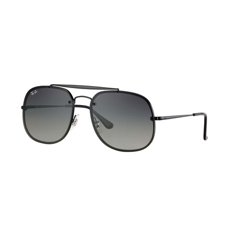 Ray-Ban Blaze General Sunglasses // Demigloss Black Frames + Light Gray Gradient Dark Gray Lenses