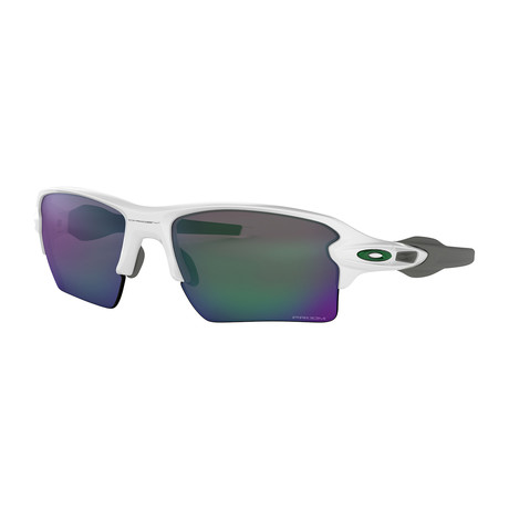 Oakley Flak® 2.0 Xl Team Colors Sunglasses // Polished White Frames + Prizm Jade Lenses