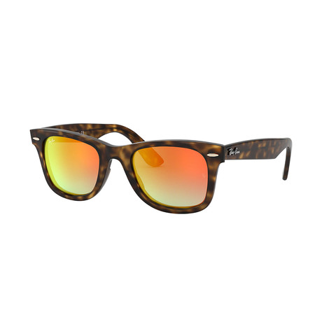 Ray-Ban Wayfarer Ease Sunglasses // Havana Frames + Gray Gradient Brown Mirror Red Lenses
