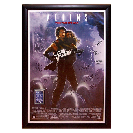 Signed Movie Poster // Aliens