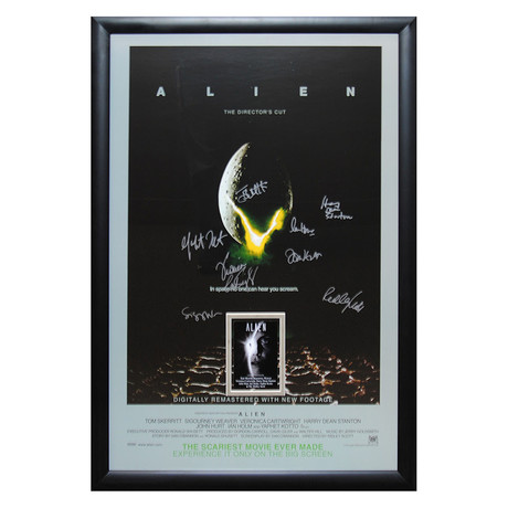Signed Movie Poster // Alien
