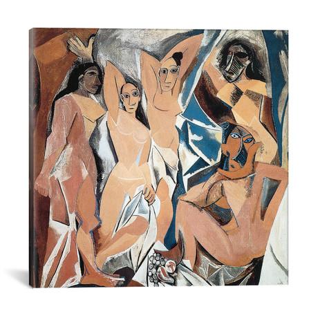 """Les Demoiselles d'Avignon // Pablo Picasso // 1907 (18""""W x 18""""H x 0.75""""D)"""