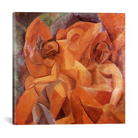 "Three Women // Pablo Picasso // 1908 (18""W x 18""H x 0.75""D)"