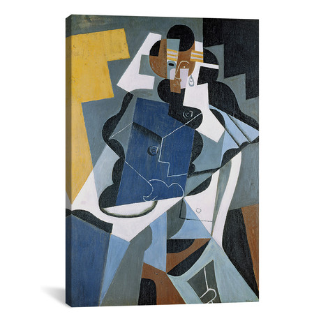 "Figure of a Woman // Juan Gris // 1917 (18""W x 26""H x .75""D)"