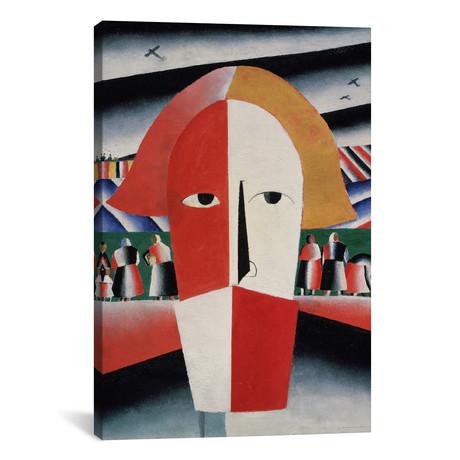 """Head of a Peasant // Kazimir Malevich // 1930 (26""""W x 18""""H x 0.75""""D)"""