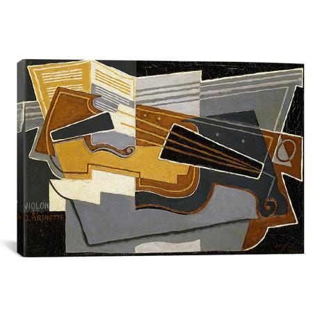 "Violin and Clarinet // Juan Gris // 1921 (18""W x 26""H x 0.75""D)"