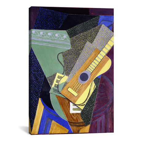"Guitar on a Table // Juan Gris // 1916 (40""W x 60""H x 1.5""D)"