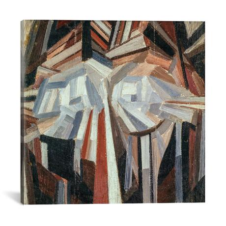 "Cubist Head // Alexander Bogomazov // 1914 (37""W x 37""H x .75""D)"