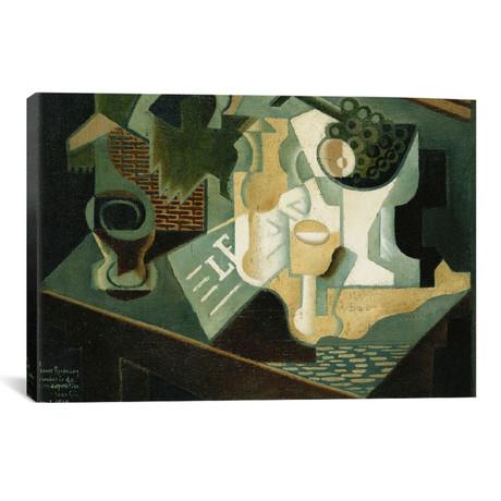 """The Table in Front of the Building; La Table Devant le Batti // Juan Gris (18""""W x 26""""H x 0.75""""D)"""