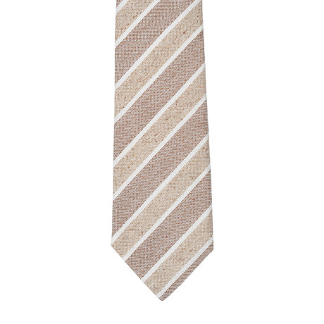 Formicola // Striped Tie // Gray + Beige
