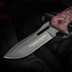 D186 Fixed Blade Knife // Red