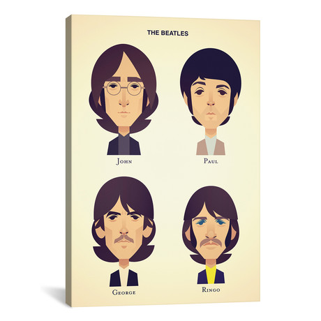"The Beatles // Stanley Chow (18""W x 26""H x 0.75""D)"