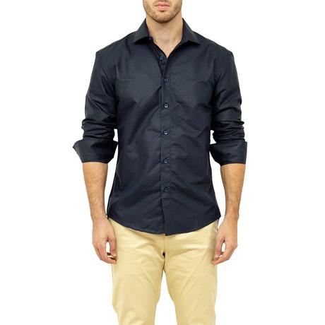 Arthur Button-Up Shirt // Navy (XS)