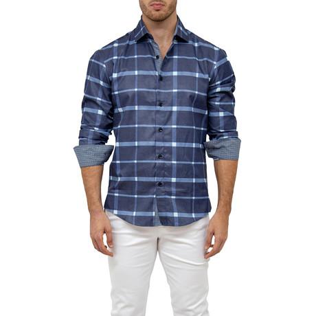 Cedric Button-Up Shirt // Navy (XS)