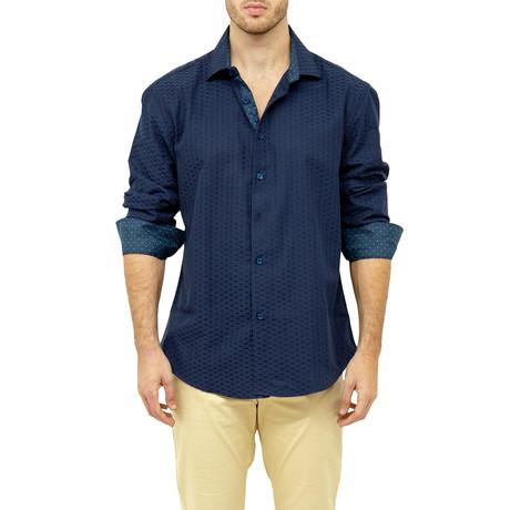 Semus Button-Up Shirt // Navy (XS)
