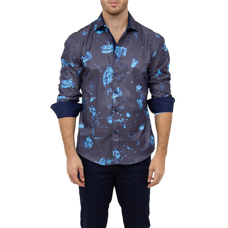 James Button-Up Shirt // Blue (XS)