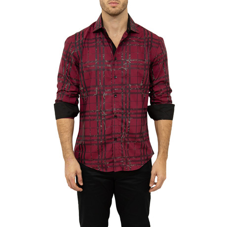 Evans Button-Up Shirt // Red (XS)