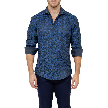 Remus Button-Up Shirt // Navy (S)