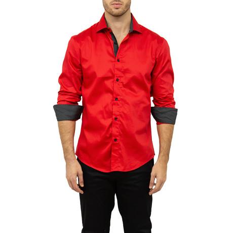 Tyler Button-Up Shirt // Red (XS)