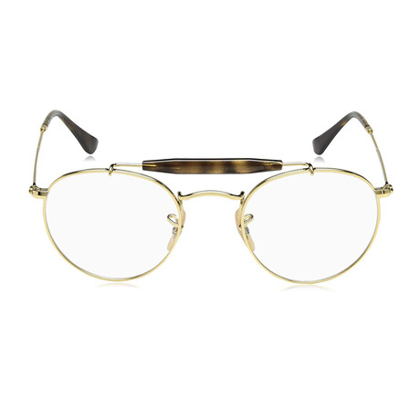 Ray-Ban // Men's Round Optical Frames // Gold
