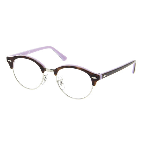 Ray-Ban // Unisex Clubround Frame // Top Havana On Opal Violet