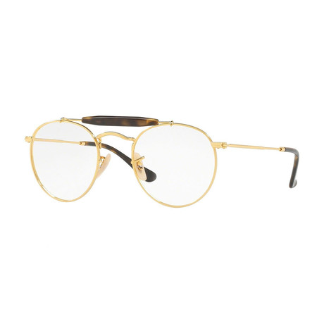 Men's 0RX3747V Round Optical Frames // Gold
