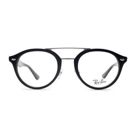 Men's Oval Optical Frames // Black