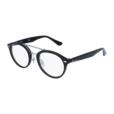 Men's Oval Optical Frame // Black