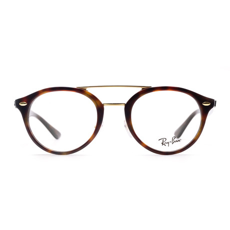 Ray-Ban // Plastic Men's Oval Optical Frame // Havana Brown