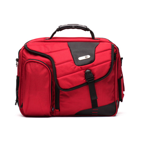 Commotion Messenger Bag // Red