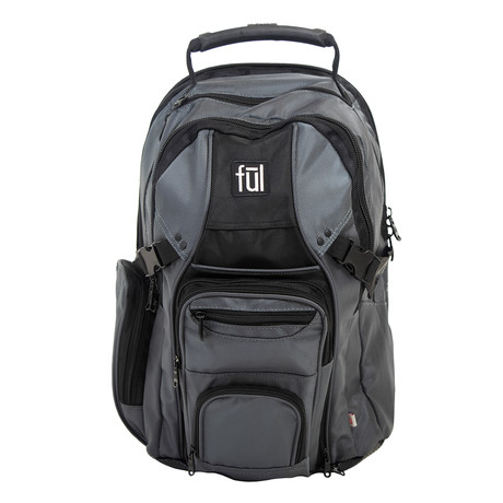 Tennman Laptop Backpack // Black + Gray